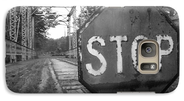 Galaxy Case featuring the photograph Stop Sign by Michael Krek