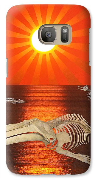 Galaxy Case featuring the mixed media Stop The Slaughter by Eric Kempson