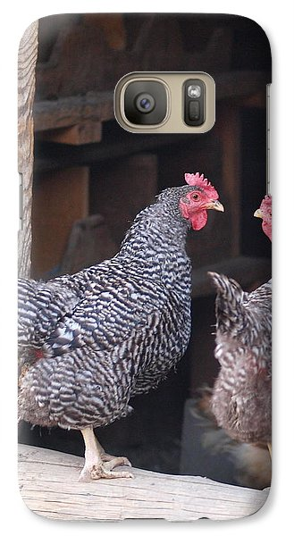 Galaxy Case featuring the photograph Stopping For A Chat by Jenessa Rahn