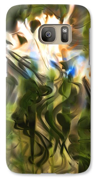 Galaxy Case featuring the digital art Stork In The Music Garden by Richard Thomas