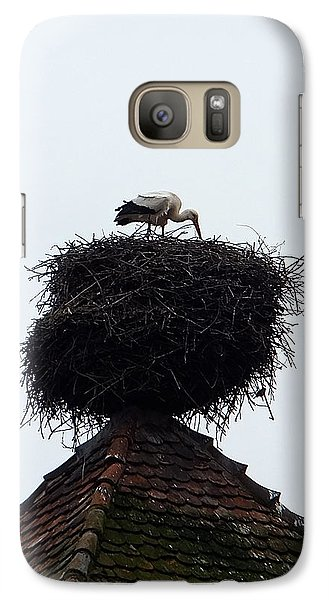 Galaxy S7 Case featuring the photograph Stork by Marc Philippe Joly