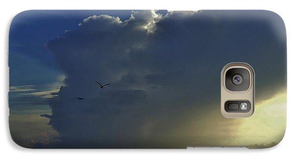 Galaxy Case featuring the photograph Storm Across Delaware Bay by Ed Sweeney