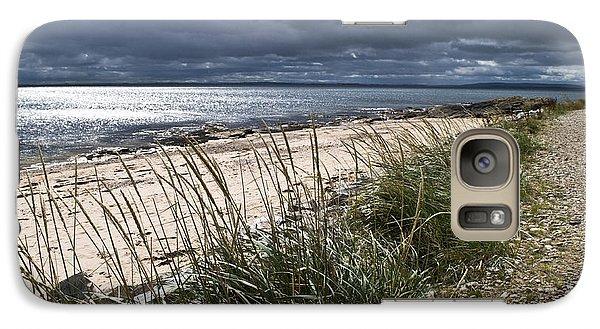 Galaxy Case featuring the photograph Storm Arising Dornoch Beach Scotland by Sally Ross