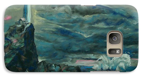 Galaxy Case featuring the pastel Storm Breaking by Peter Suhocke
