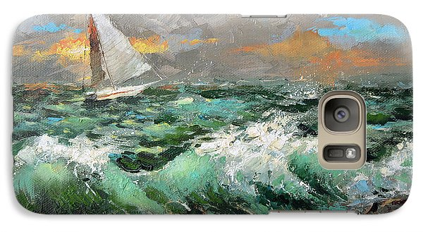 Galaxy Case featuring the painting Storm Broke Out by Dmitry Spiros