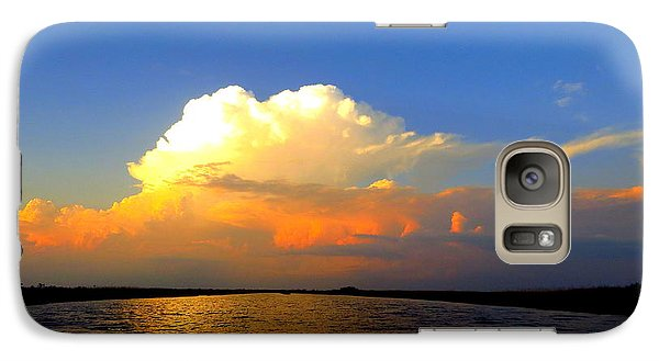 Galaxy Case featuring the photograph Storm Clouds At Dusk by Phyllis Beiser