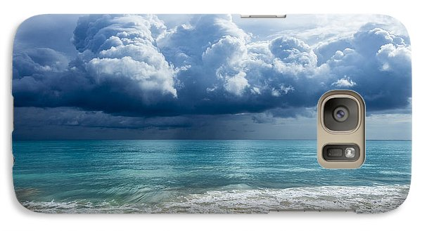 Galaxy Case featuring the photograph Storm Clouds At Waimanalo by Leigh Anne Meeks