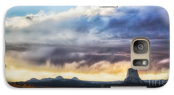 Storm Clouds Over Devils Tower Galaxy S7 Case
