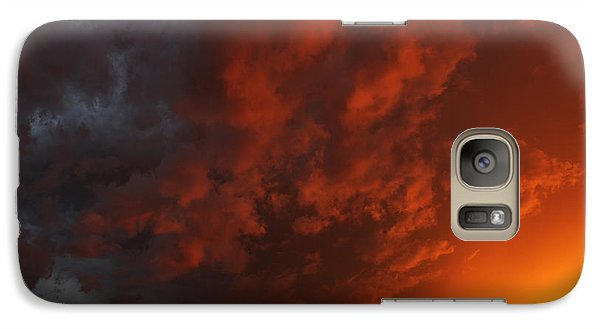 Galaxy Case featuring the photograph Storm Clouds Over Yorkton II by Ryan Crouse