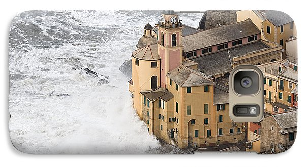 Galaxy Case featuring the photograph Storm In Camogli by Antonio Scarpi