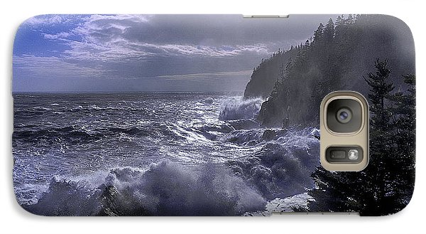 Galaxy Case featuring the photograph Storm Lifting At Gulliver's Hole by Marty Saccone