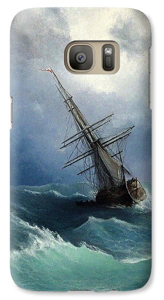 Galaxy Case featuring the painting Storm by Mikhail Savchenko