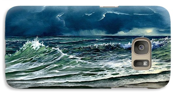 Galaxy Case featuring the painting Storm Off Yucatan Mexico by Lynne Wright