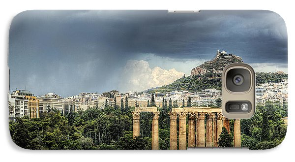 Galaxy Case featuring the photograph Storm Over Athens by Micah Goff