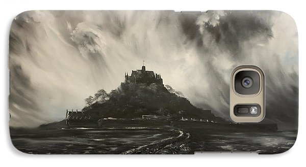 Galaxy Case featuring the painting Storm Over St Michaels Mount Cornwall by Jean Walker