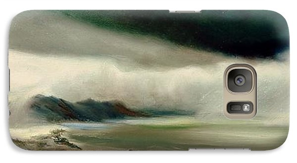 Galaxy Case featuring the painting Storm by Sorin Apostolescu