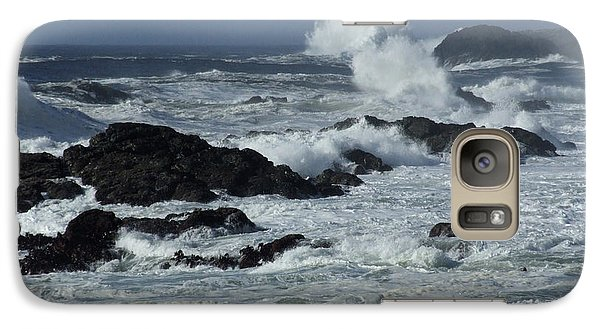 Galaxy Case featuring the photograph Storm Surf by Mark Alan Perry