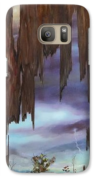 Galaxy Case featuring the painting Storm Through The Grain by Anna-maria Dickinson