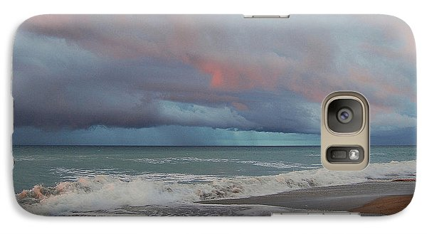 Galaxy Case featuring the painting Storms Comin' by Mim White