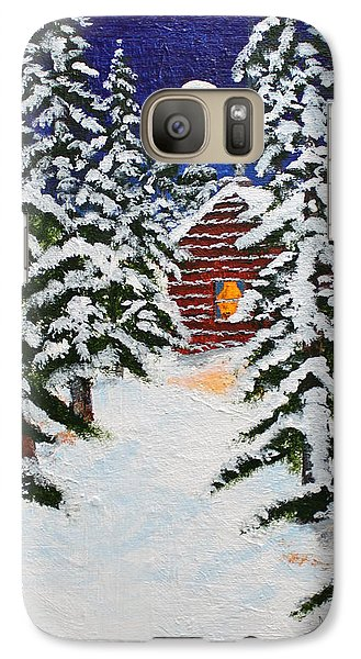 Galaxy Case featuring the painting Storms Over by Jack G  Brauer
