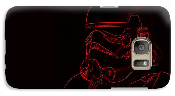 Galaxy Case featuring the digital art Stormtrooper In Red by Chris Thomas