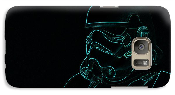 Galaxy Case featuring the digital art Stormtrooper In Teal by Chris Thomas