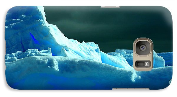 Galaxy Case featuring the photograph Stormy Icebergs by Amanda Stadther