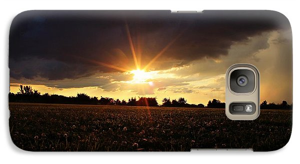 Galaxy Case featuring the photograph Stormy Lit Pasture by Candice Trimble