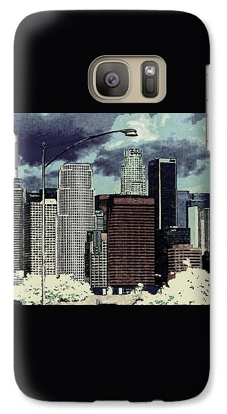 Galaxy Case featuring the photograph stormy Los Angeles from the freeway by Jodie Marie Anne Richardson Traugott          aka jm-ART