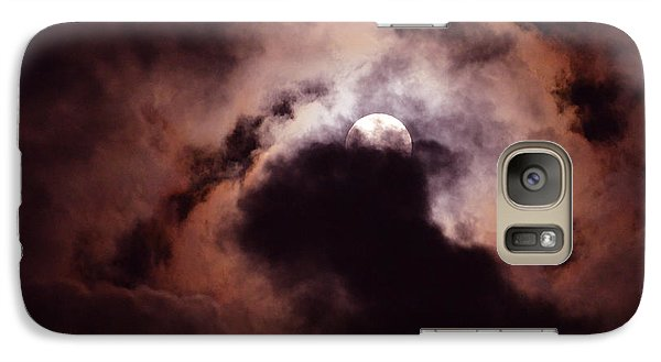 Galaxy Case featuring the photograph Stormy Moon Three by Linda Cox