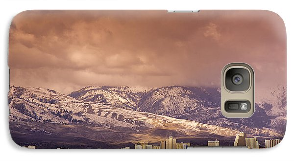 Galaxy Case featuring the photograph Stormy Reno Sunrise by Janis Knight
