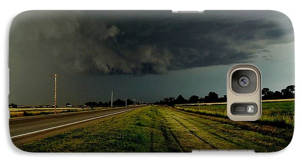 Galaxy Case featuring the photograph Stormy Road Ahead by Ed Sweeney