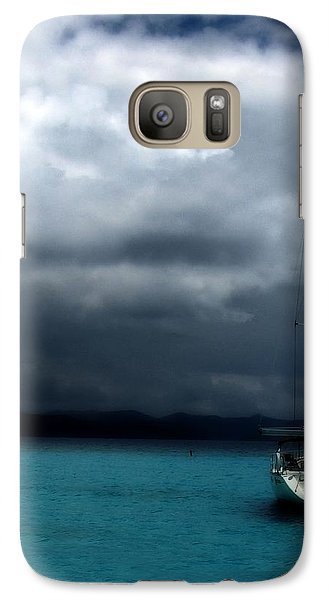 Galaxy Case featuring the photograph Stormy Sails by Heather Green