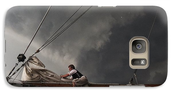 Galaxy Case featuring the photograph Stormy Sails by Nikki McInnes