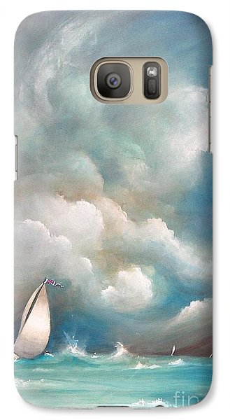 Galaxy Case featuring the painting Stormy Sunday by Sgn