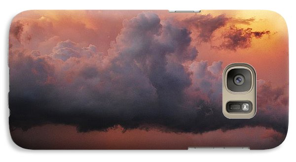 Galaxy Case featuring the photograph Stormy Sunset by Ed Sweeney