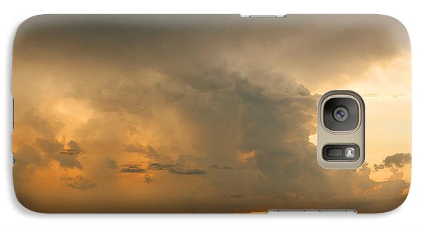 Galaxy Case featuring the photograph Stormy Sunset by Mariarosa Rockefeller