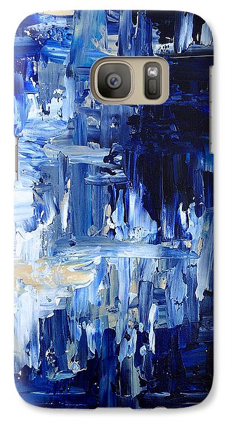 Galaxy Case featuring the painting Stormy Waves by Rebecca Davis