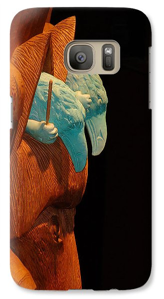 Galaxy Case featuring the photograph Story Pole by Cheryl Hoyle