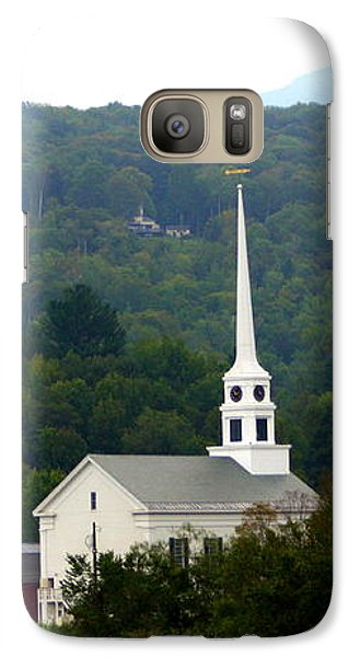 Galaxy Case featuring the photograph Stowe Community Church by Patti Whitten