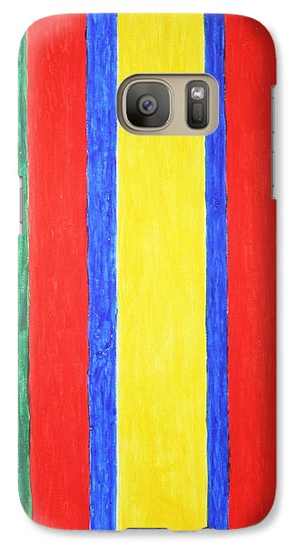 Galaxy Case featuring the painting Vertical Lines by Stormm Bradshaw