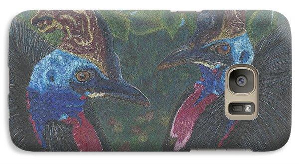 Galaxy Case featuring the drawing Strange Birds by Arlene Crafton