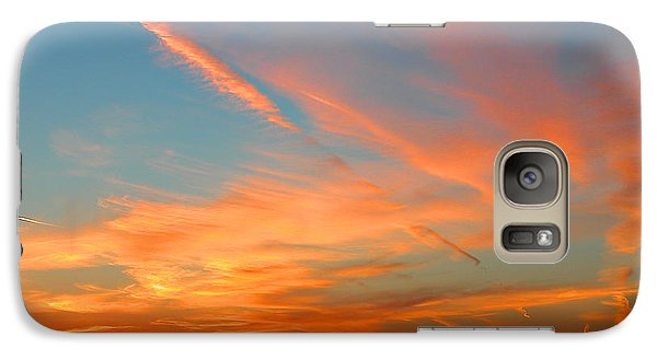 Galaxy Case featuring the photograph Strange Contrails by Mariarosa Rockefeller