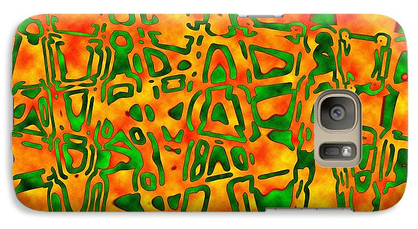 Galaxy Case featuring the photograph Strange Hieroglyphs by Mark Blauhoefer