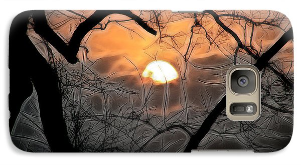 Galaxy Case featuring the photograph Strange Morning by EricaMaxine  Price