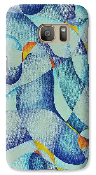 Galaxy Case featuring the drawing Strangest Color Blue by Rick Ahlvers