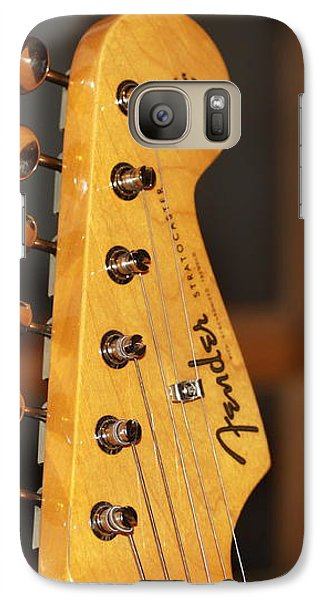 Galaxy Case featuring the photograph Stratocaster Headstock by Chris Thomas