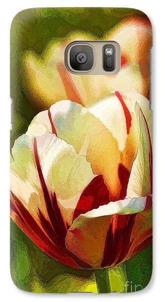 Galaxy Case featuring the photograph Strawberries And Cream by Linda Blair