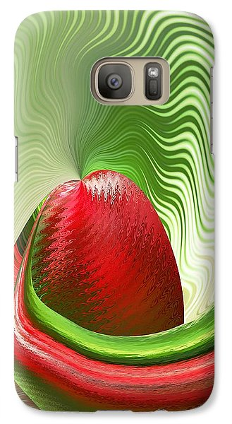 Galaxy Case featuring the digital art Strawberry And Fan by rd Erickson