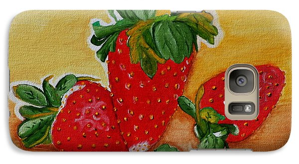 Galaxy Case featuring the painting Strawberry Delight by Johanna Bruwer